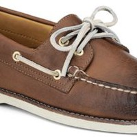 Sperry Top-Sider Gold Cup Authentic Original Burnished Leather 2-Eye Boat Shoe TanBurnishedLeather, Size 8.5M  Men's Shoes