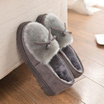 Soft Warm Furry Home Women Slippers Casual Indoor Winter Fashion Shoes