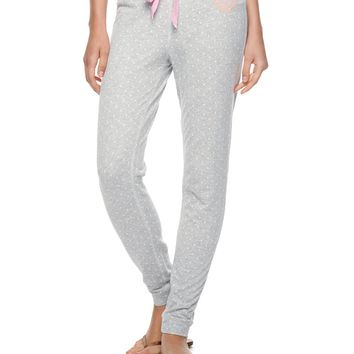 H_Dove Sweet Dot Dot French Terry Pant by Juicy Couture,
