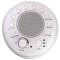 SONEic - Sleep, Relax and Focus Sound Machine. 10 Soothing White Noise and Natural Sound Tracks, with Timer Option. Crystal Clear Quality Sound Speaker and 3.5mm Headphone Jack, with Volume Control. USB or Battery Powered. Portable and Stylish - White