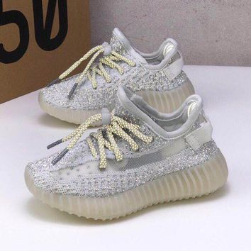adidas Yeezy Boost 350 V2 White Reflective Toddler Kid Running Shoes Child Low Top Sneakers - Best Deal Online