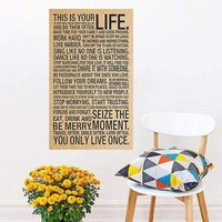 This Is Your Life Quote Wall Decals