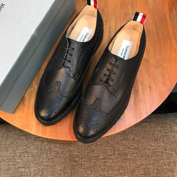 Tb Thom Browne Men's Business Recreation Leather Shoes
