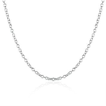 5 Pack White Gold Plated Chain Necklace 18 ""
