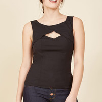 Stand Your Fairground Tank Top in Licorice
