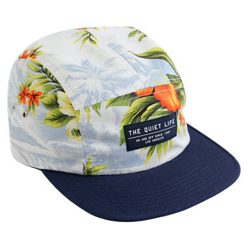 Quiet Life: Hawaiian 5 Panel Hat - Navy Bill