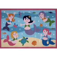 Fun Rugs Olive Kids Collection Mermaids Area Rug