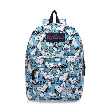 Cartoons Backpack Waterproof Canvas Headphones [6532340999]