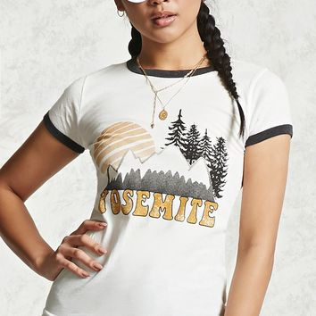 Yosemite Graphic Ringer Tee