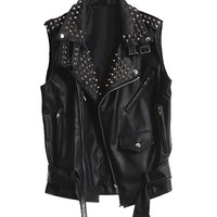 Leather vest - Rider - Leather jackets - Jackets & Outerwear - Women - Modekungen - Fashion Online | Clothing, Shoes & Accessories