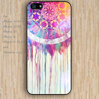 iPhone 4 5s 6 case watercolor pattern dream catcher colorful phone case iphone case,ipod case,samsung galaxy case available plastic rubber case waterproof B638