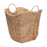 EKO Tall Water Hyacinth Wicker Basket With Handles