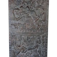 Vintage Carving Kamasutra Inspired by Khajuraho Hand Carved Wall Sculpture,  Barn Door Studio Eclectic Boho Shabby Chic Decor