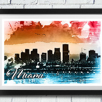 INSTANT DOWNLOAD - Miami - Download and Print - Image Transfer - Digital by DigitalDownloadStudio - no. CT107