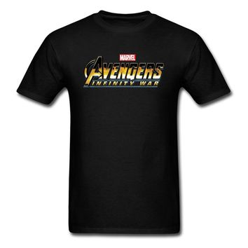 T Shirt 2018 Avengers Infinity War T-shirt Men Tshirt Cotton Tee Shirts Black Clothing Marvel Superhero Tops 3D Comic Tees