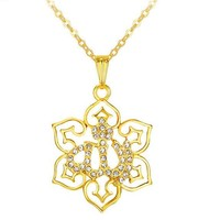 Gold Plated Allah Symbol Pendant Necklace