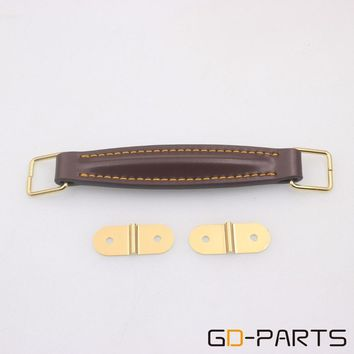 Vintage Leather Handle Strap For Marshall Fender Guitar Amplifier Speaker Cabinet Radio Trunk Brown 1PC