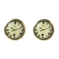LOVEsick Clock Stud Earrings