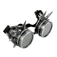 Goggles Gothic Steampunk Cosplay Antique Spikes Vintage Victorian Glasses Eyewear Alternative Measures