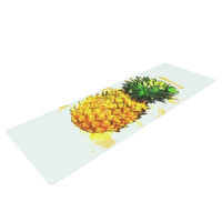 "Oriana Cordero ""Slice of Summer"" White Yellow Yoga Mat"