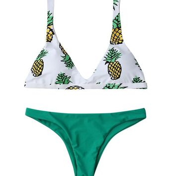 Paulina Pineapple Brazilian Bikini Set