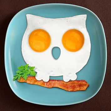 Hot Sale Fashion Breakfast Silicone Fried Egg Mold Pancake Egg Ring Shaper Funny Owl Egg Shaper Cooking Tool Worldwide Store