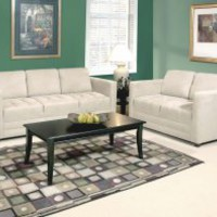 Grey Microfiber Couch Set | Sienna Stone Sofa and Loveseat