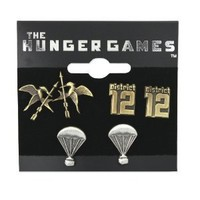 "The Hunger Games Earrings Stud Earrings 3 Pack ""District 12"""