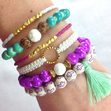 Mermaid Stacked Boho Bracelet Set