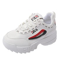 Woman Casual Vulcanize Brand Off White Platform Lace-Up Sneakers