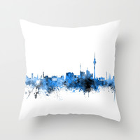 Berlin Germany Skyline Throw Pillow by ArtPause