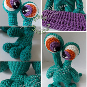 INSTANT DOWNLOAD : Mook-E the Monster Crochet Pattern