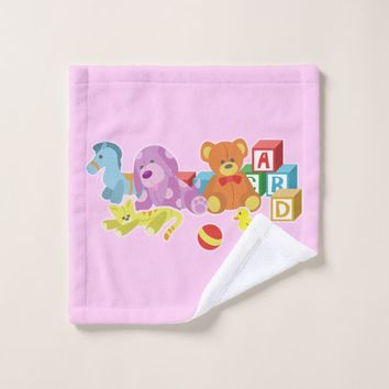 Cute Dolls (Pink) Wash Cloth