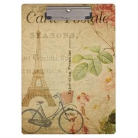 French Postcard Clipboard