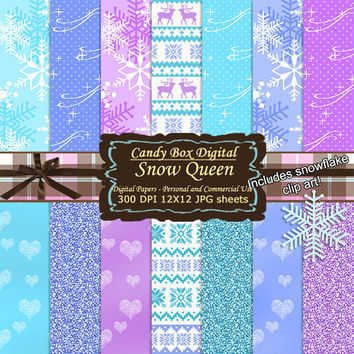 Snowflake Paper, frozen paper, frozen scrapbook, frozen digital, snowflake scrapbook, snowflake digital - Commercial Use OK