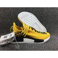 Adidas Boost Nmd Human Race BB0619 Yellow Women Men Fashion Trending Running Sneakers