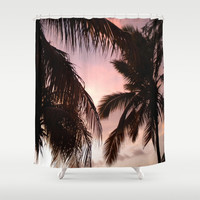 palm trees Shower Curtain by NatalieBoBatalie