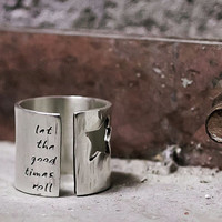 Rock Star Ring with Custom Personalized Words or Lyrics