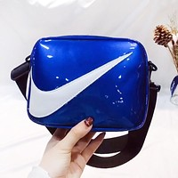 NIKE Newest Hot Sale Women Men Purse Shoulder Bag Crossbody Satchel Blue