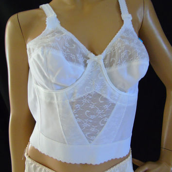 531fe2d9c094d Give 'N Take Carnival Vintage 1960 Nude or White Bustier ILGWU
