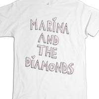 Marina and the Diamonds-Unisex White T-Shirt