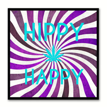 Hippy Happy Adult Sign Canvas Print Picture Frame Gifts Home Decor Wall Art Decoration