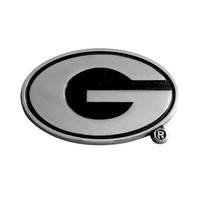 Georgia Bulldogs NCAA Chrome Car Emblem (2.3in x 3.7in)