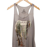 Metallic Elephant Tank