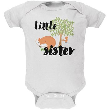 Little Sister Cute Fox Woodland Nature Soft Baby One Piece