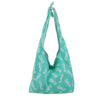 Sea Horse Slouch Knot Bag