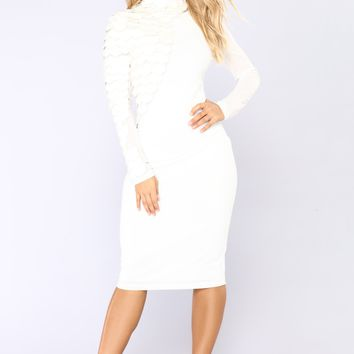 Stand Strong Midi Dress - Ivory