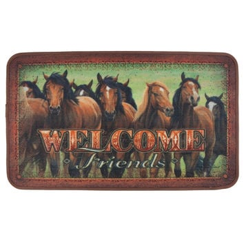 Welcome Friends Wild Horses Doormat