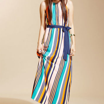 Coastline Bonfire Maxi Dress in Stripes