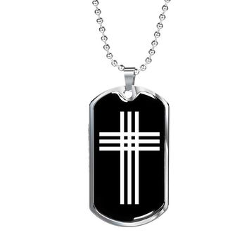 Stylized Cross v2 - Luxury Dog Tag Necklace